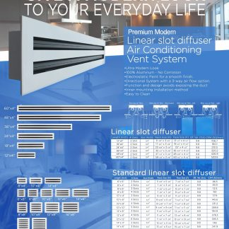 LINEAR SLOT DIFFUSERS FOR CENTRAL AIR CONDITIONING SYSTEMS