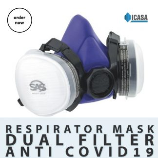 SAS Bandit Disposable Dual Cartridge OV/N95 Respirator — Large, OV/N-95/NIOSH Approved, Model# 8861-93