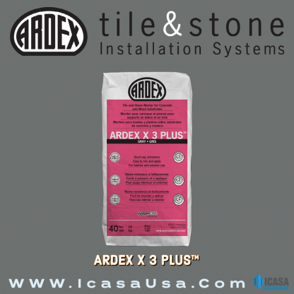 ARDEX X 3™ PLUS LHT - Large and Heavy Tile and Stone Mortar